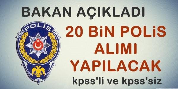 20 Bin Polis Memuru Alınacak