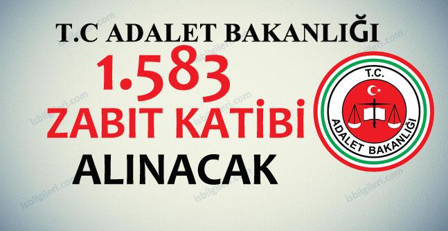 Adalet Bakanlığı 1583 Zabıt Katibi Alıyor