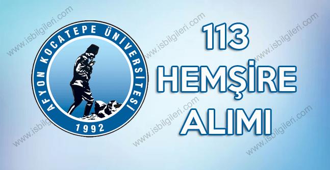 Afyon Kocatepe Üniversitesi 113 lise mezunu sözleşmeli personel alımı