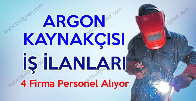 Argon Kaynakçısı arayan firma ve kurumlar