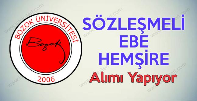 Bozok Üniversitesi Sözleşmeli Hemşire ve Ebe Alımı ilanı