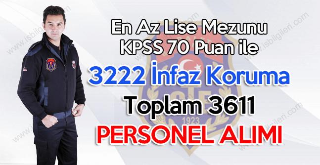 Ceza ve Tevkifevleri KPSS 70 puan ile 3611 Sözleşmeli Personel Alımı