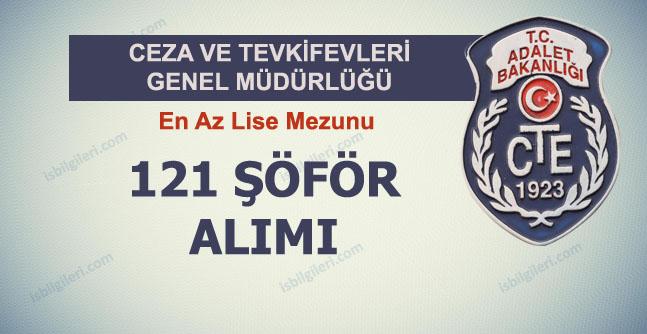 Ceza ve Tutukevleri 121 Şoför Alıyor