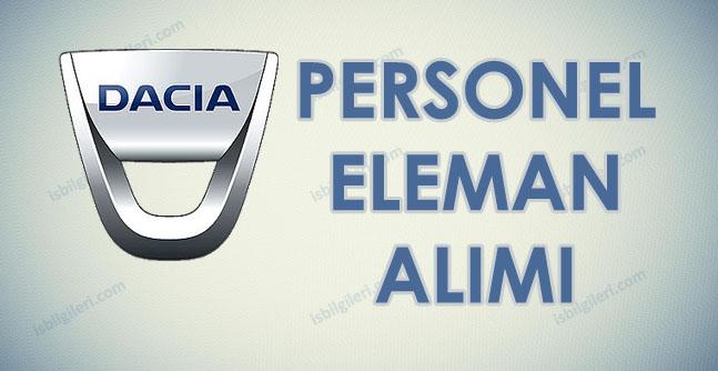 Dacia Renault en az lise mezunu personel işçi alımı