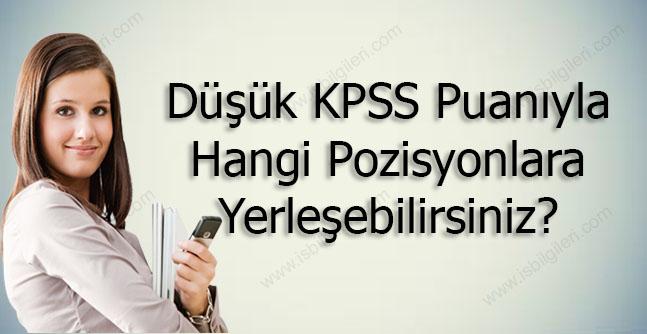 Düşük KPSS Puanıyla Hangi Kurumlara Yerleşebilirsiniz?