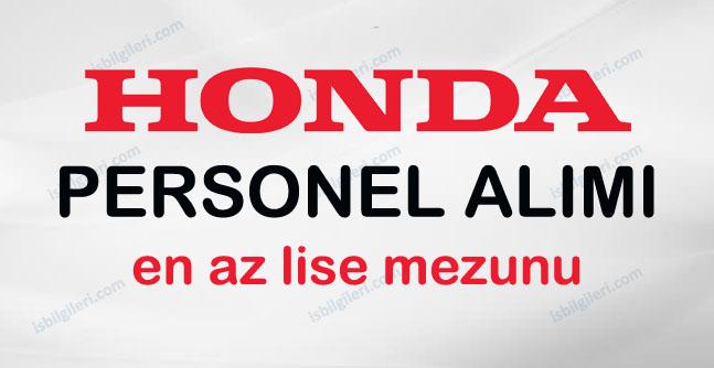 Honda Personel Alımı için Açık iş pozisyonları neler?