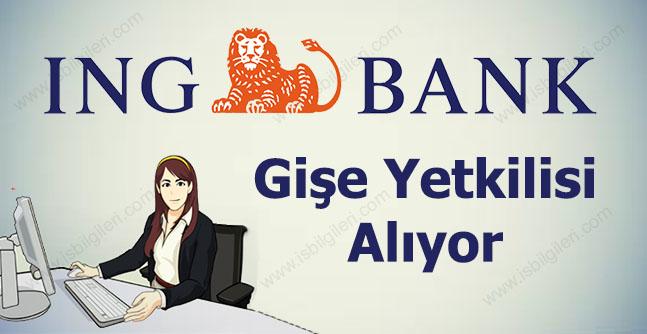 İNG Bank Gişe Yetkilisi Alımı 2017
