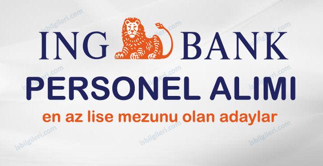 ING Bank farklı kadrolara personel alımı yapıyor