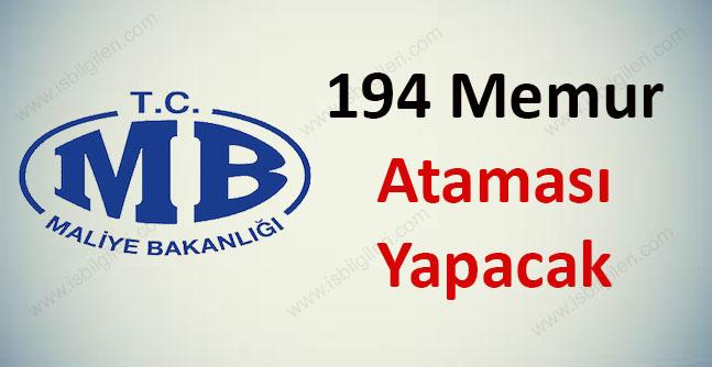 Maliye Bakanlığı 194 Atama Yapacak