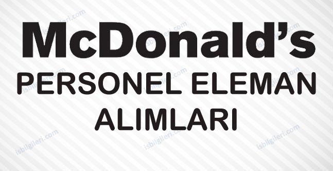 McDonald's Personel Alımı İş İlanı
