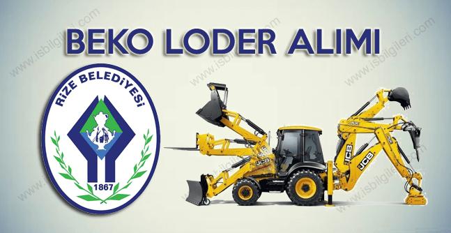 Rize Belediyesi Beko Loder Operatörü işçi alımı duyurusu