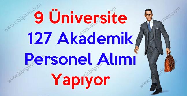 Şubat ayında 9 Üniversite 127 Akademik Personel Alımı Yapıyor