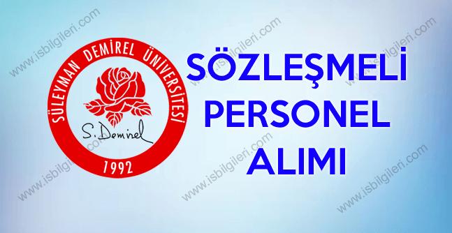 Süleyman Demirel Üniversitesi hemşire, fizyoterapist ve sağlık personeli alım ilanı