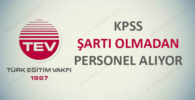 Türk Eğitim Vakfı Personel Alımı