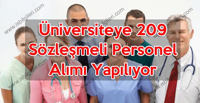 Üniversiteye 13 pozisyona lise mezunu toplam 209 personel alımı koşulları yayınlandı