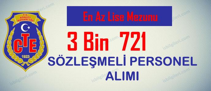 Ceza ve Tevkifevleri Genel Müdürlüğü 3 Bin 721 Sözleşmeli Personel Alıyor