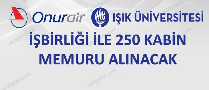 Onur Air 250 Kabin Memuru Alıyor