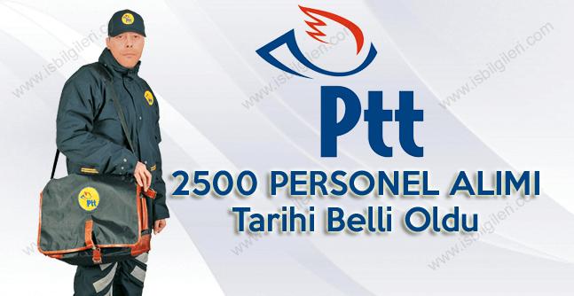 PTT 2500 büro, gire görevlisi ve dağıtıcı alımı başvuru tarihi belli oldu