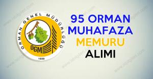 Orman Genel Müdürlüğü 95 Orman Muhafaza Memuru alımı ilanı