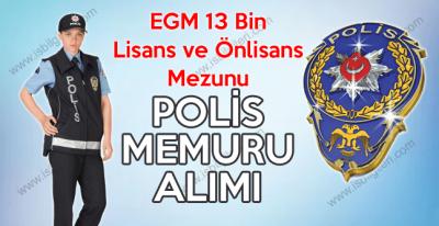 21. Dönem EGM 13 bin polis memuru alımı tarihi ve genel şartları