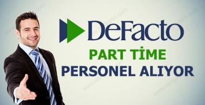 Defacto Part Time Satış Danışmanı Alıyor 2017