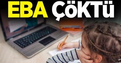 Eğitim Bilişim Ağı EBA Çöktü. EBA Canlı Dersler yapılamıyor