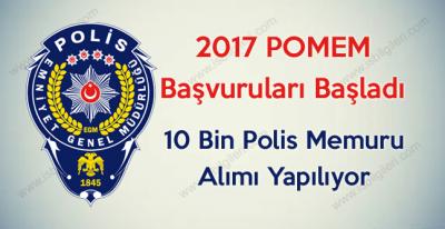 Emniyet Genel Müdürlüğü POMEM 10 Bin Polis Memuru Alımı başvuruları başladı