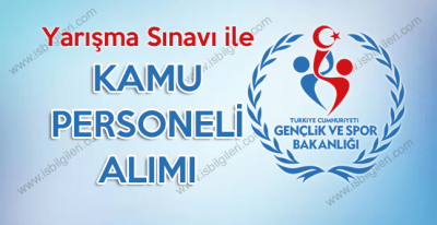 Gençlik ve Spor Bakanlığı 30 Kadrolu Personel Alımı giriş sınavı ilanı