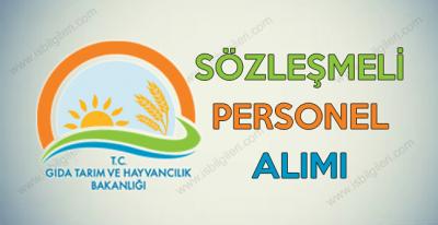 Gıda Tarım ve Hayvancılık Bakanlığı Sözleşmeli Personel Alımı duyurusu