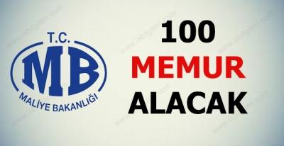 Maliye Bakanlığı 100 Memur Alımı Yapacak
