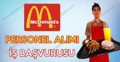 McDonald's çalışma arkadaşları arıyor. 2017 McDonald's iş başvuru formu