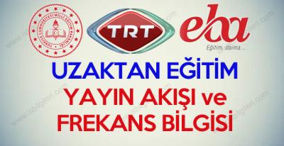 MEB 23 Mart'ta Uzaktan Eğitime Başlıyor TRT EBA Kanal Frekansı Nedir?