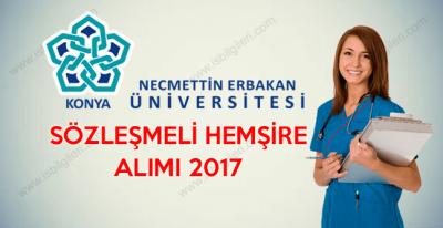 Necmettin Erbakan Üniversitesi Lise Mezunu Sözleşmeli Hemşire Alımı