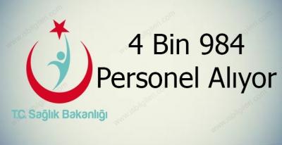 Sağlık Bakanlığı 4 Bin 984 Sözleşmeli Personel Alıyor