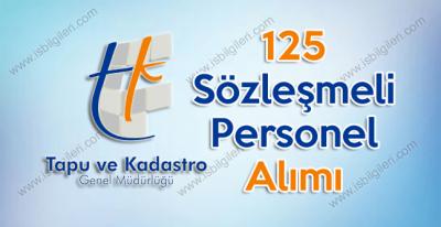 Tapu ve Kadastro Genel Müdürlüğü KPSS 60 puan ile 125 Sözleşmeli Personel Alımı yapıyor