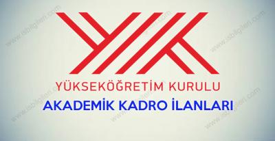 YÖK akademik kadro ilanları 2018